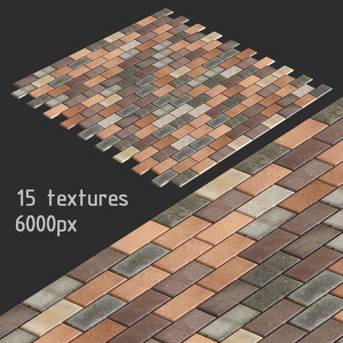 Paving slabs and 15 high resolution textures multimap