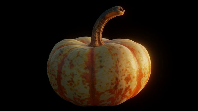 small pumpkin photoscan 3d model obj mtl blend 1