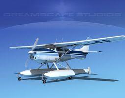 Cessna 182 Seaplane State Police 3D Model