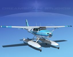 Cessna 182 Skylane Seaplane V10 3D