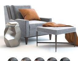 Baker Presido Lounge Chair 3D model