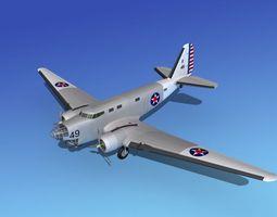 Douglas B-18A Bolo V05 3D Model