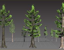 3D model Alaska Cedar Trees