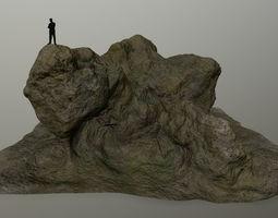 rocks 3D asset game-ready mosy
