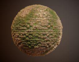 Brick Vines PBR SEAMLESS Texture 3D model