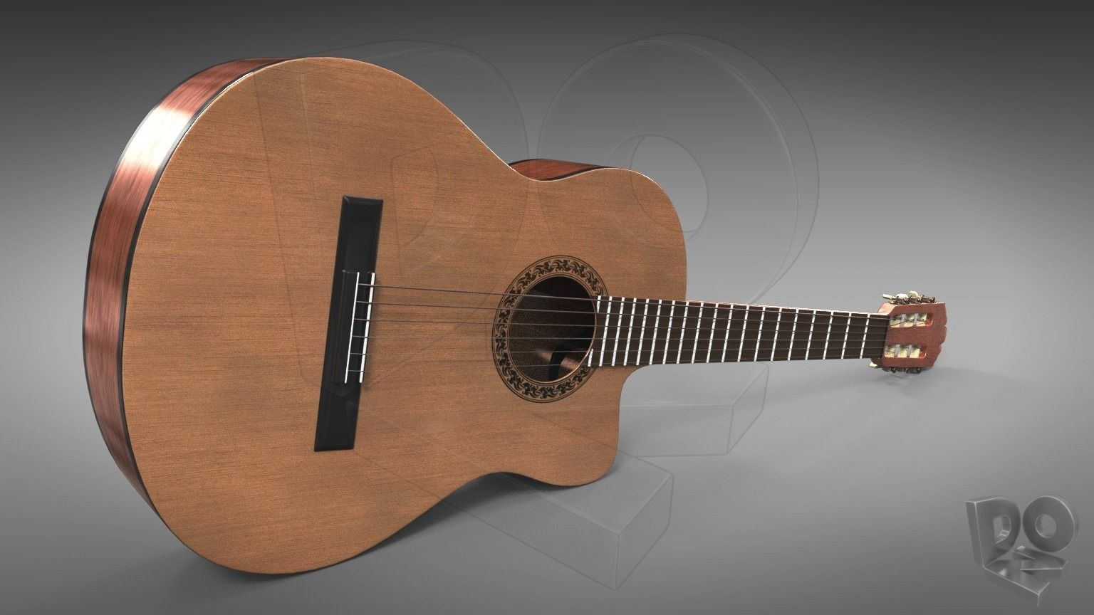 Classic guitar with cutaway