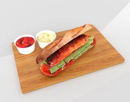 Hot Dog 3D asset