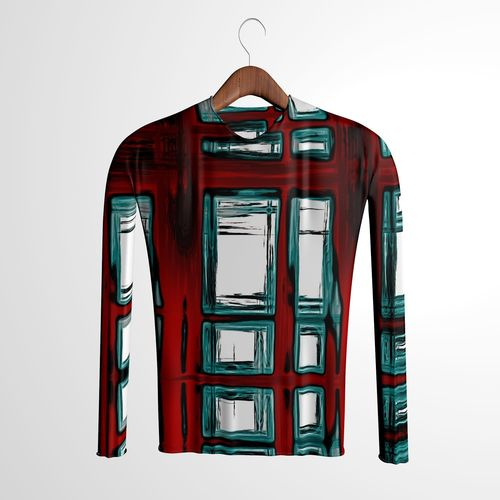 shirt sweatshirt and hanger 3d model fbx 1