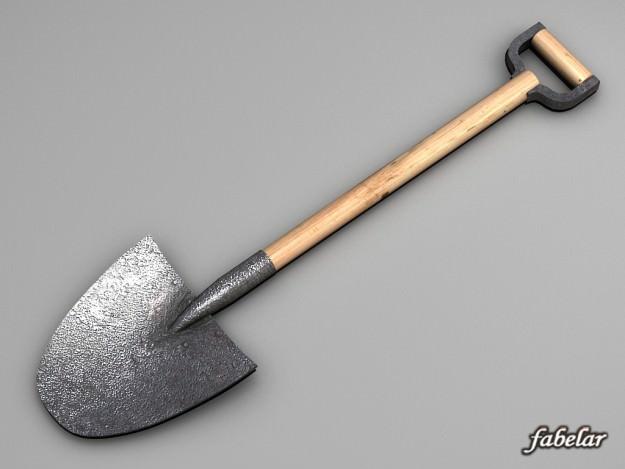 Shovel 3d model max obj 3ds c4d for Soil 3d model