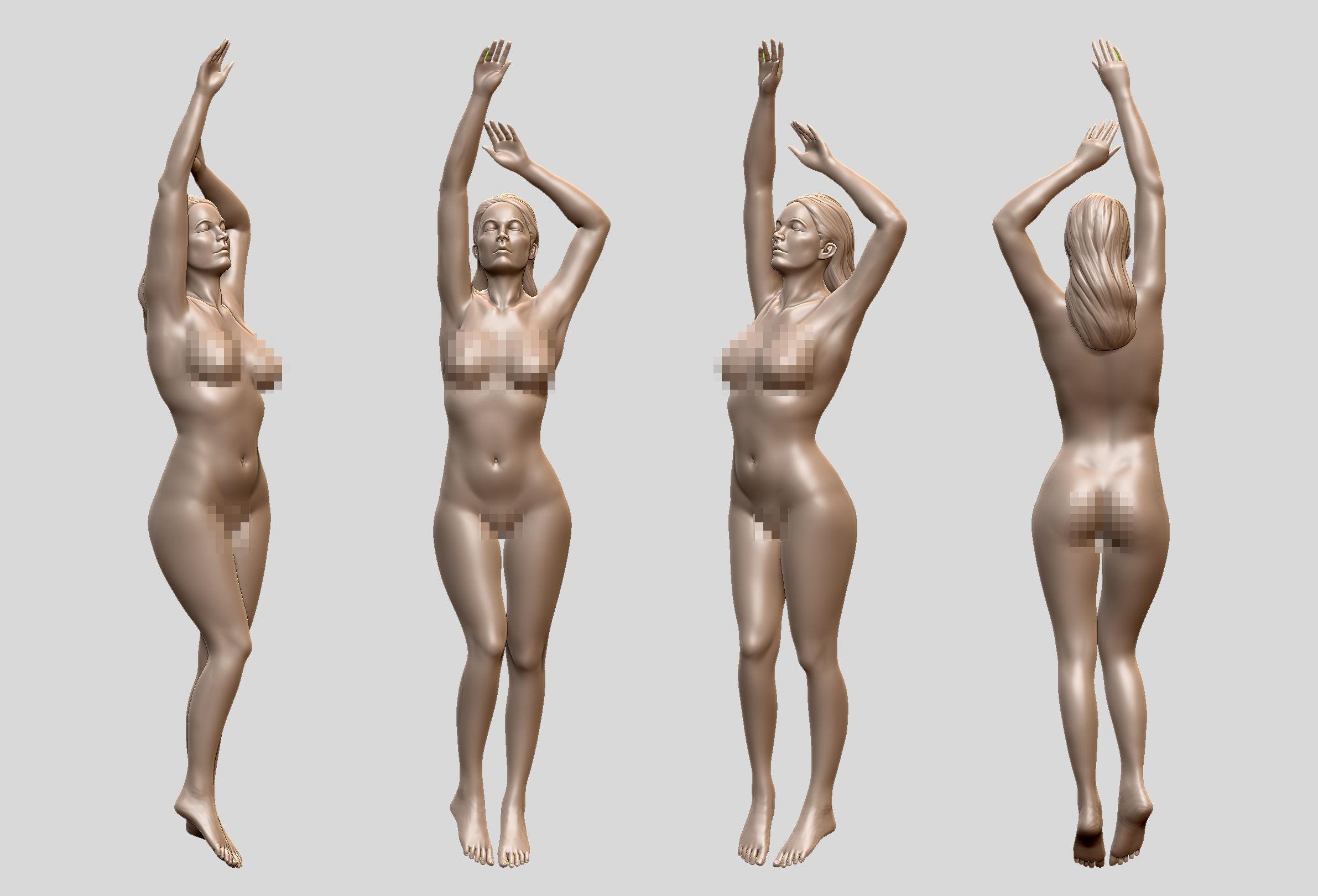 Sexy female model 3D print