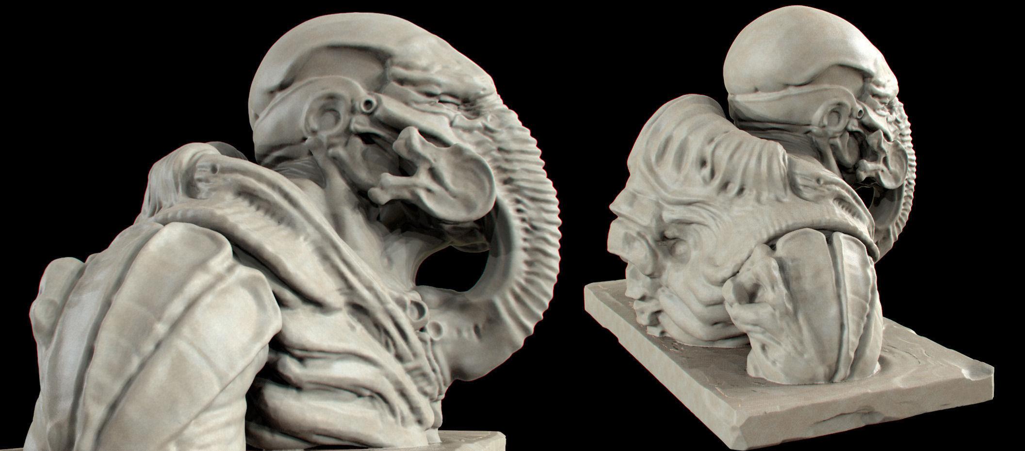 Giger Mask 3D Model 3D printable .stl - CGTrader.com