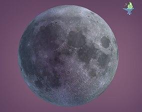 3D asset Low Poly Moon
