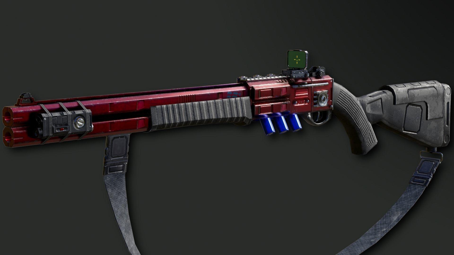 RA2539 Sci-Fi Double Barreled Shotgun