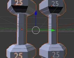 Dumbbells gym 3D
