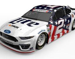 3D asset Mustang NASCAR 19