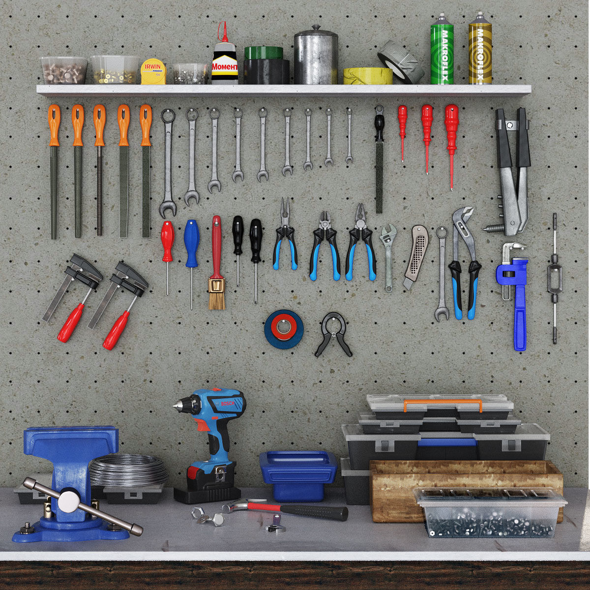 garage tools set 1