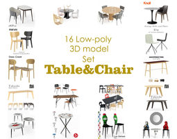 Table and Chair collection model