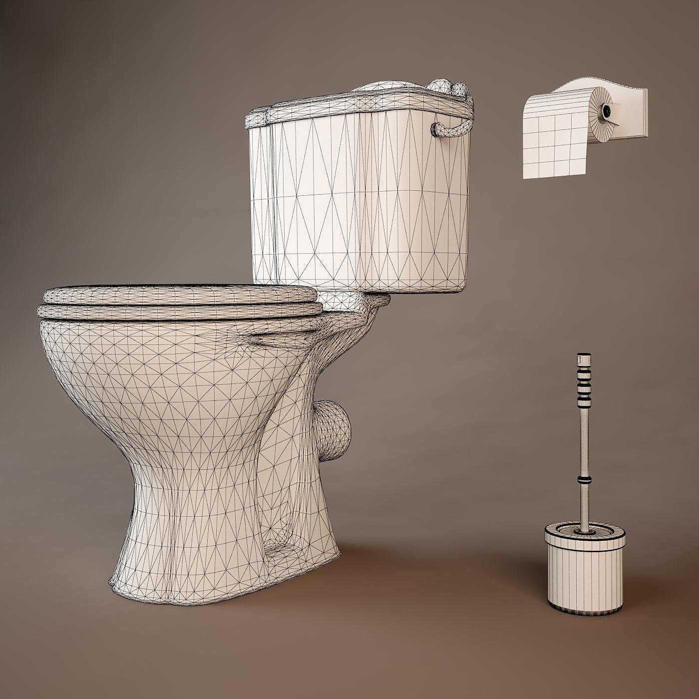 3D Salle De Bain Toilet | CGTrader