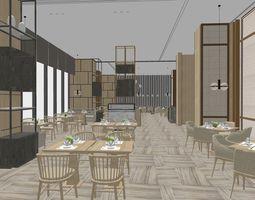 3D Restaurant table interior