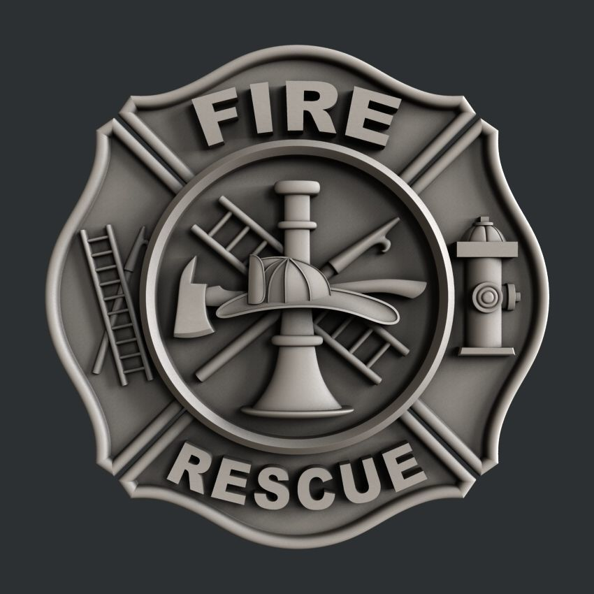 3d STL models for CNC fire rescue
