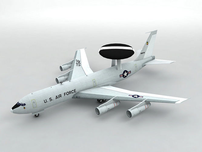 e-3 sentry awacs aircraft 3d model low-poly max obj mtl 3ds dxf stl wrl wrz 1