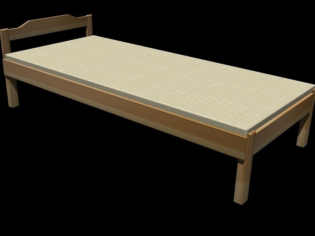 Wooden Bed 3d Model Dwg