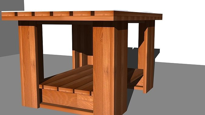 Coffee table design 2 3d model cgtrader for Table design 3d
