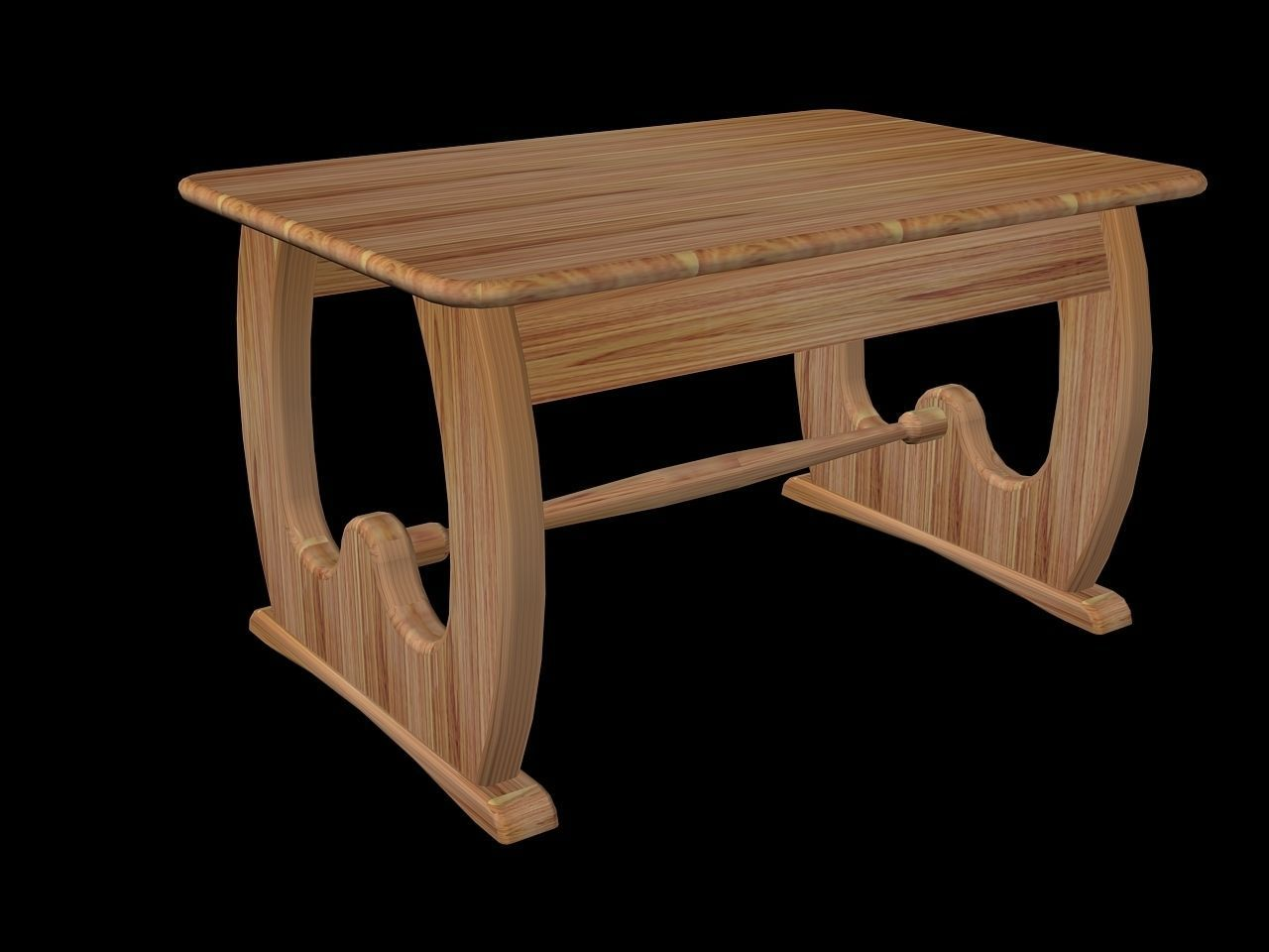 Designed Coffee Table Free 3d Model Dwg