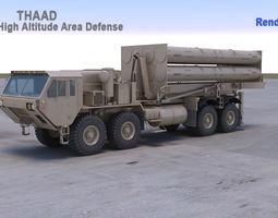 THAAD Missile System 3D model