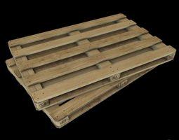 wooden pallet- gameready 3D model