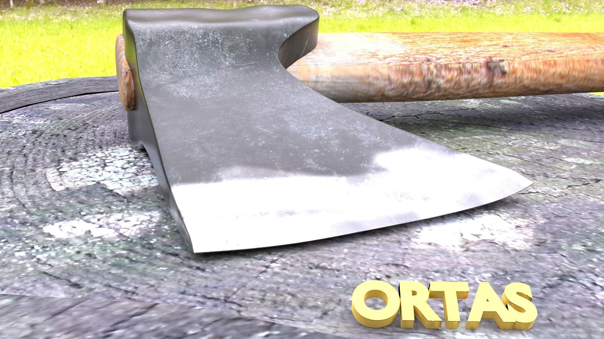 ORTAS AXE NO 1 WOOD AND STEEL AXE 3D PRINTABLE