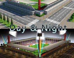 stadium level 6 day-night realtime 3d model