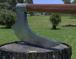 ORTAS AXE NO 7 HUGE REALISTIC AXE 3D PRINTABLE game
