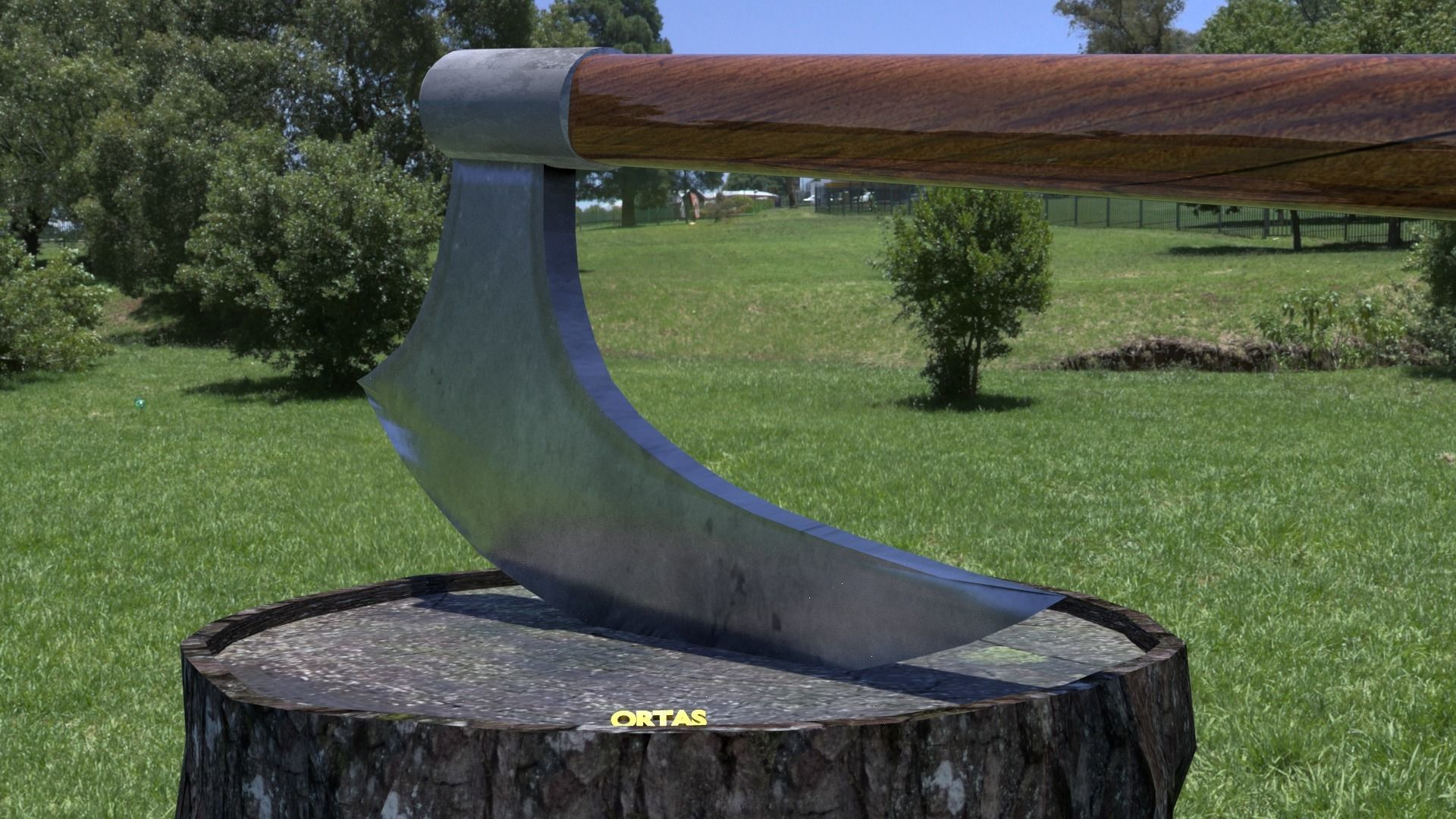 ORTAS AXE NO 7 HUGE REALISTIC AXE 3D PRINTABLE