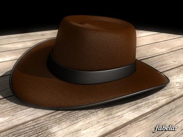 f96cb277a4b 3D model Stetson Hat