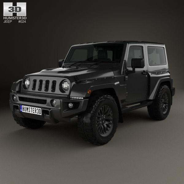 Jeep Wrangler Project Kahn Jc300 Chelsea Black Hawk 2 Door 2016 Model