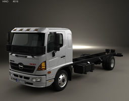 3D model Hino 500 FD 1124 Chassis Truck 2016