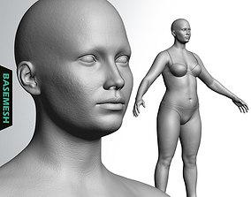 3D model Overweight Female Basemesh