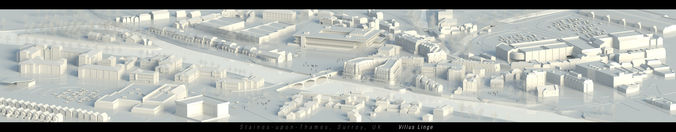 Staines upon Thames Surrey UK 3D MODEL3D model