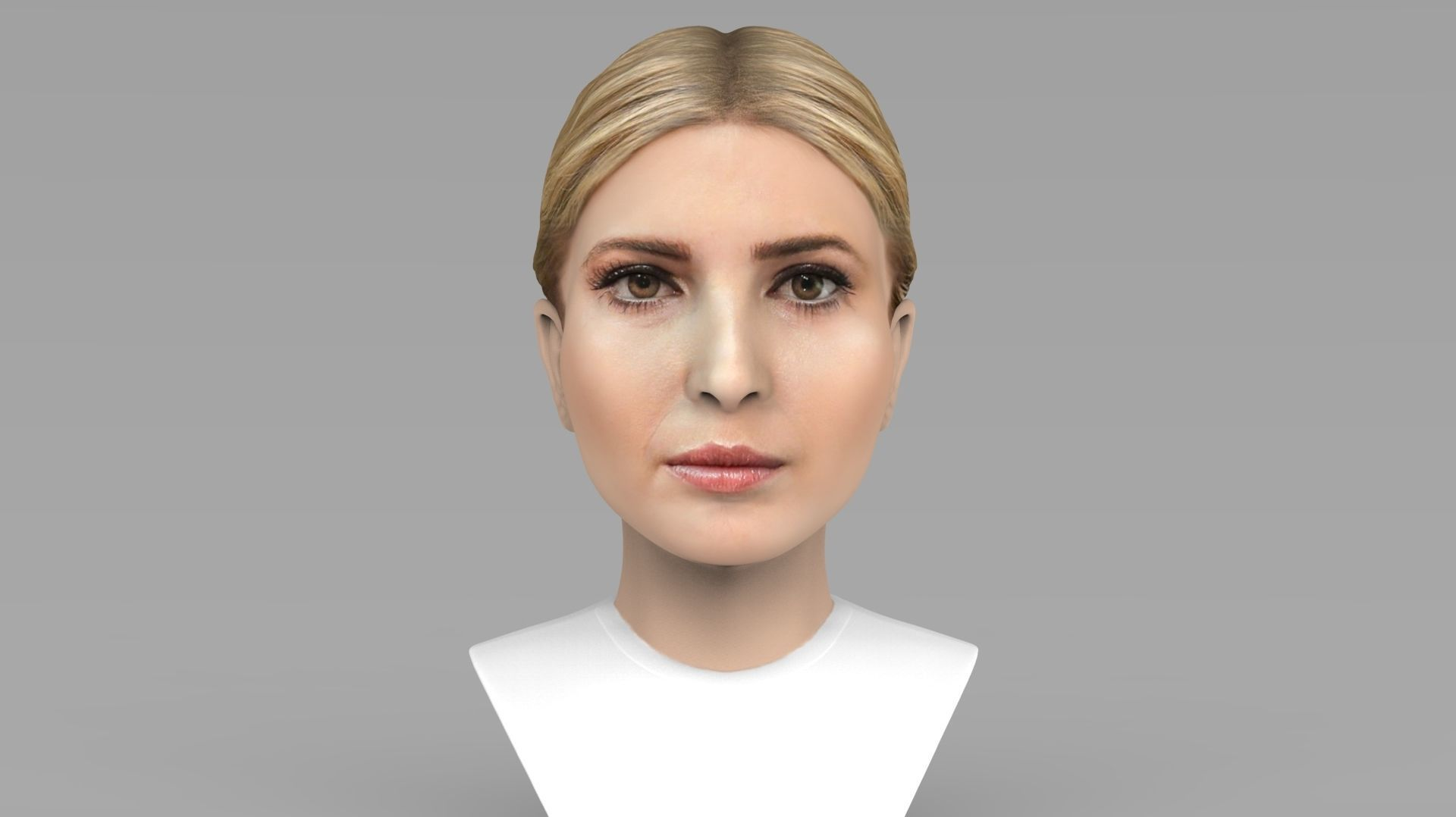 Ivanka Trump bust ready for full color 3D printing