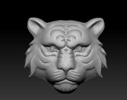 3D print model jewelry tiger head