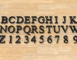 Times New Roman Font 3D print model