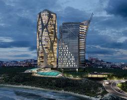 architecture Hotel 3D model