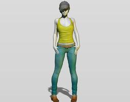 Shy girl 3D printable model