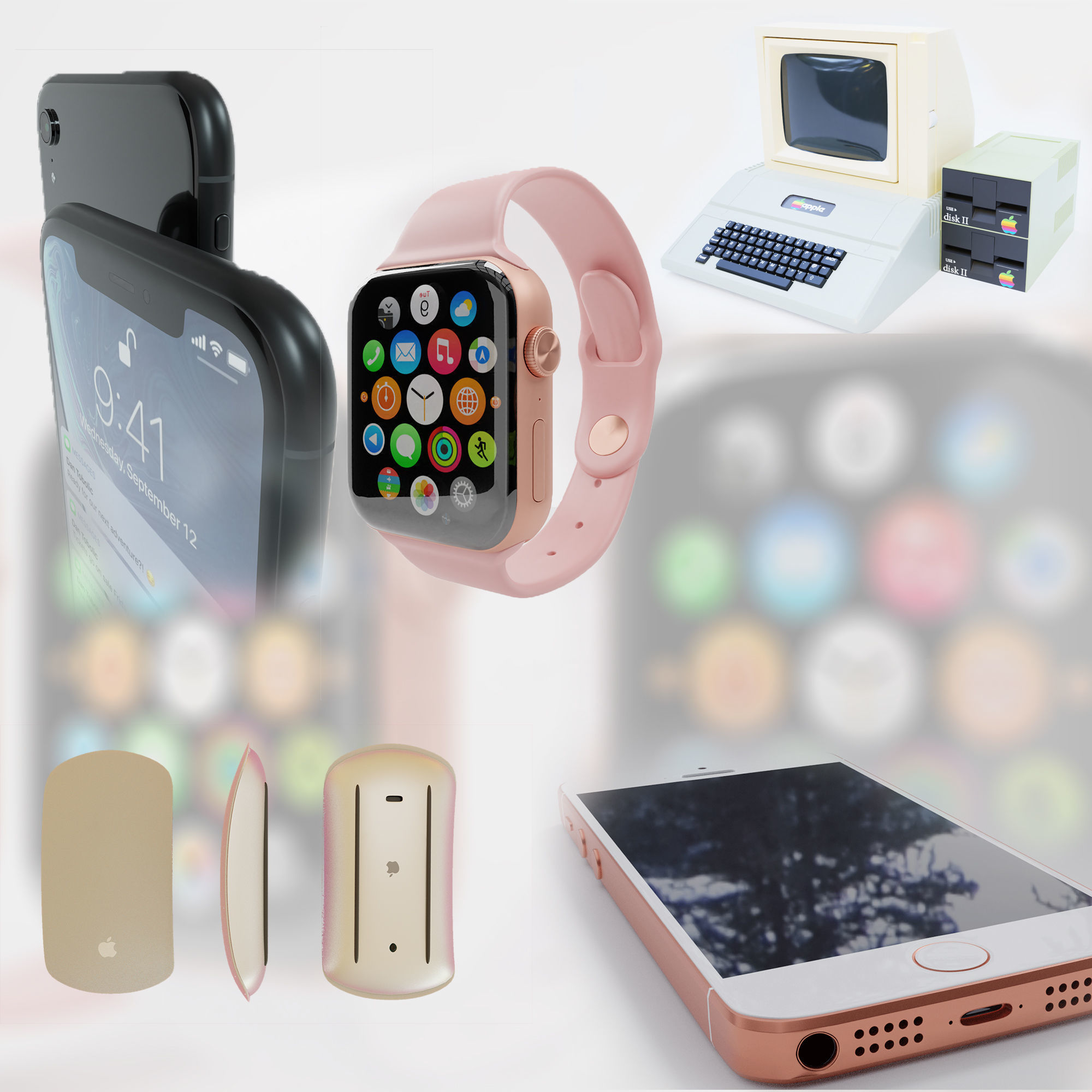 3D Apple electronic device collection  CGTrader