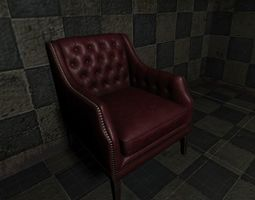 seat old chair 3D model