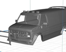 GMC Ventrura A Team Body Van Printable 3D