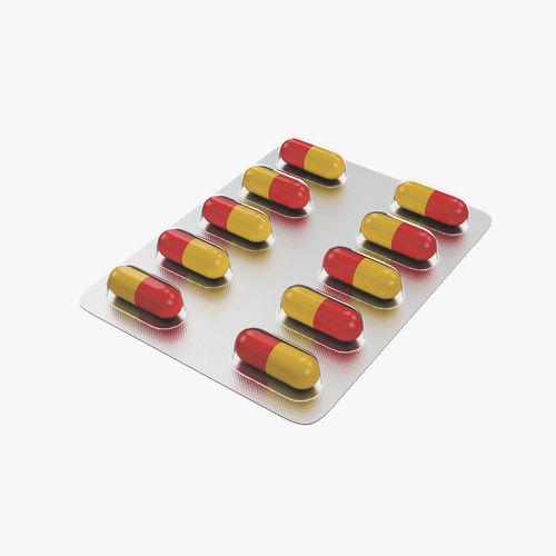 pills in blister pack 3d model max obj mtl fbx 1
