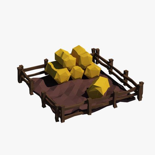 cartoon haystacks 3d model max obj mtl fbx 1