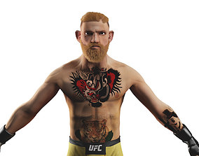 conor mcgregor 3d model low-poly
